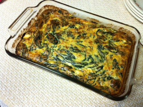 Lunch Idea: Spinach and Vidalia Souffle A simple vegetarian entree from yesterday's recipe newsletter