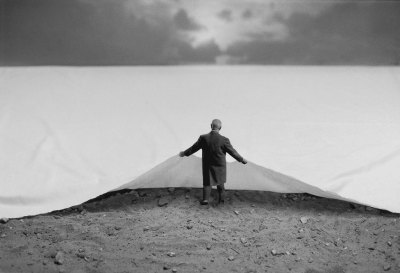 chagalov:  Gilbert Garcin, The hidden side of things, 2001, Ed. of 2012   [+]  And such an interesting artist! Starting as a photographer at 65, after retirement, he is still active at 83. His models are always himself, Mr. G., and his wife, Mrs G., staged to illustrate existence and philosophy  always with a great sense of humor. Exhibition:Gilbert Garcin – Mr.GFrom May 10 to June 30, 2012Elipsis Gallery (Istanbul, Turkey) Official Website  via lalettre