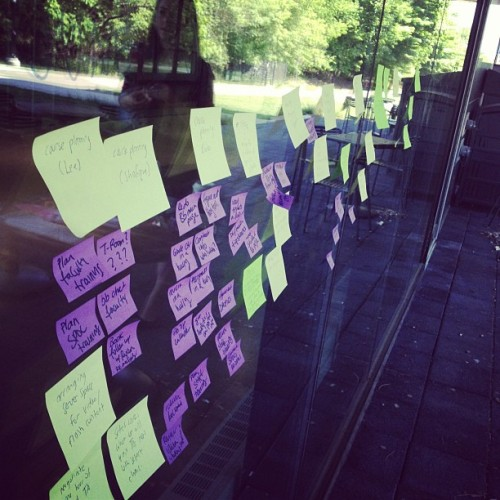 Goals planning on the outside walls (Taken with instagram)