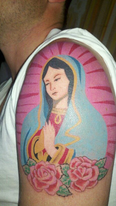 This is my Tattoo of La Virgen de Guadalupe, i just love this image… no history behind, just the placer of keep it forever in my arm… Puebla, Mexico
