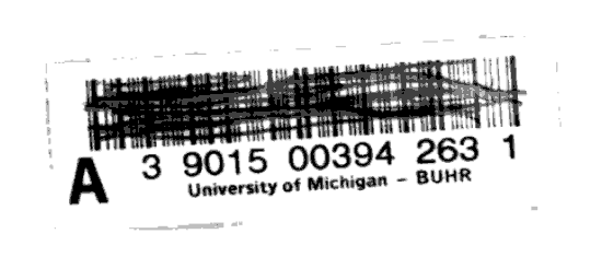 Negated University of Michigan bar code (heavily pixellated).  From the back matter of The Child's Christian Education: or, Spelling and Reading Made Easy, 16th ed., by the Reverend Mr. Fisher (1809). Original from the University of Michigan. Digitized February 24, 2006.