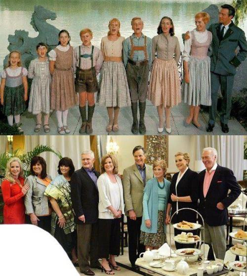 thatneedstogo:  Sound of Music cast then and now