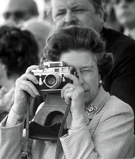 Happy weekend, photogs! fallonelizabeth:  HRH Queen Elizabeth's Leica.