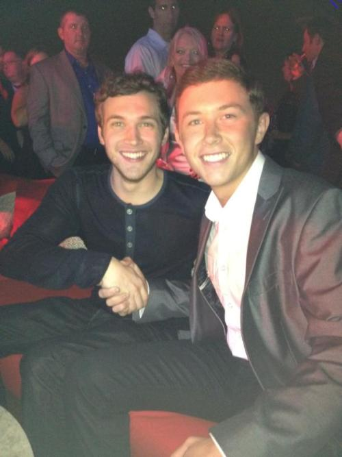 fuckyeahcountrystars:  Scotty McCreery ‏@ScottyMcCreery Welcome to the family man. Proud of you @PPhillipsAI11