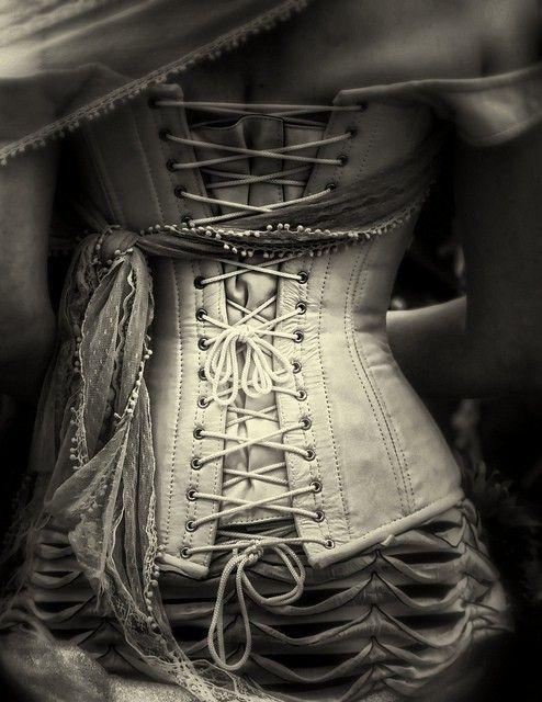 corset corsette victorian gothic black white