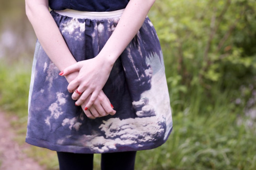theclotheshorse:  ootd, my carven skirt I don't wear enough