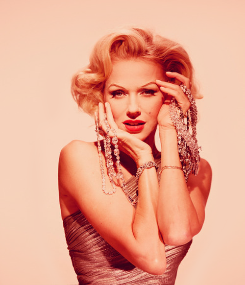 Naomi Watts as Marilyn Monroe - Vogue Russia outtake by Ali Mahdavi, June 2012