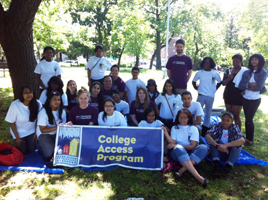On Saturday, May 19th, ERDA College Access Program students joined a volunteer team from Goldman Sachs to learn concrete aspects of improvisation comedy in Astoria Park. Every year, Goldman Sachs sponsors a day long project with our ERDA College Access students. Volunteers participate in cool projects like this one with ERDA youth while mentoring them on college applications and college life in general. Without your support, this would have never been possible. Thank you.