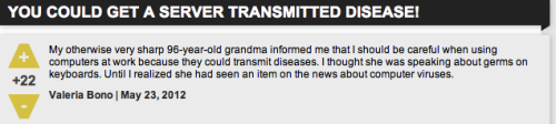 Grandma got AIDS from her hard drive!