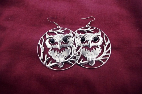 What I bought on Malta - Owl earrings 03/04/2012