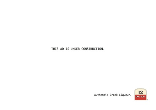 All of Greece is under construction. Why not this ad too?