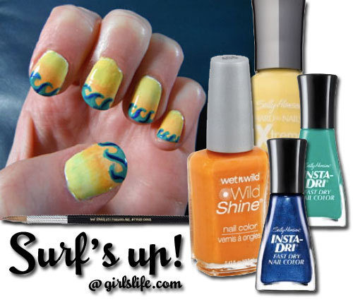 Get this beach blanket-ready mani how-to at girlslife.com…