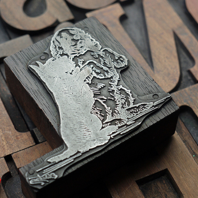 valscrapbook:  Vintage printing block by jacqui sharples on Flickr.