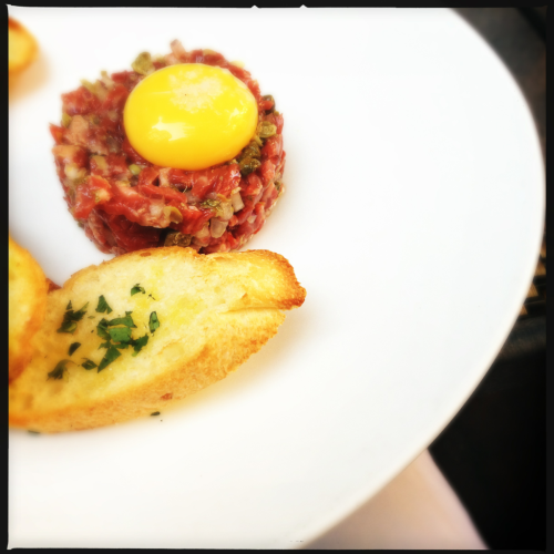 Steak tartar at Columbia firehouse