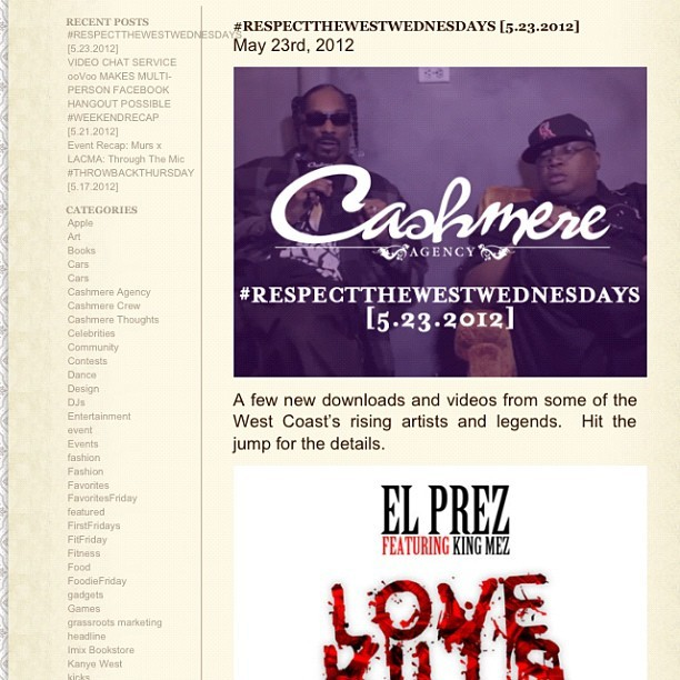 Shouts to Cashmere Agency for posting #LoveKills on their blog… They're ready for #LEADERSHIT, are you?!? Listen to the new track @ IAMELPREZ.COM and DJBooth.net (Taken with instagram)