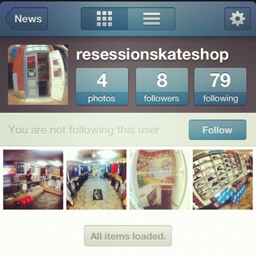 Get into it. Follow my dudes @resessionskateshop who proudly support #abyss_crew and will be stocking #abyss2012 when is drops the end of this month!! (Taken with instagram)