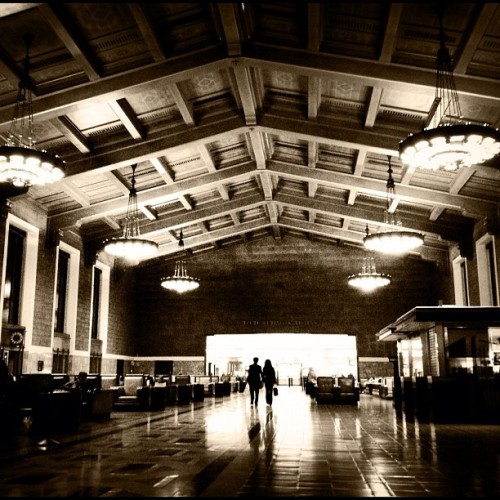 Union Station, Los Angeles #iphoneonly #iphoneography #losangeles #unionstation #historic #trainstation #tweegram #instagood #photooftheday #instamood #igers #instagramhub #picoftheday #instadaily #bestoftheday #igdaily #webstagram #instagrammers #statigram #follow #followme #photo #ignation #instahub  (Taken with instagram)