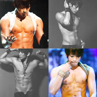 10 favorites abs in kpop → bi rain  10 favorite? Do you mean 6 because everything's Rain and nothing hurts