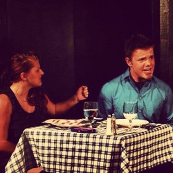 Me and @chandlermarie93 in CHECK PLEASE. Twas a fun show. #actor #Acting #play #show #audience #Gotime #Movie #Shows #Art #entertainer #Music #Drama #Theatre #Fun  (Taken with instagram)
