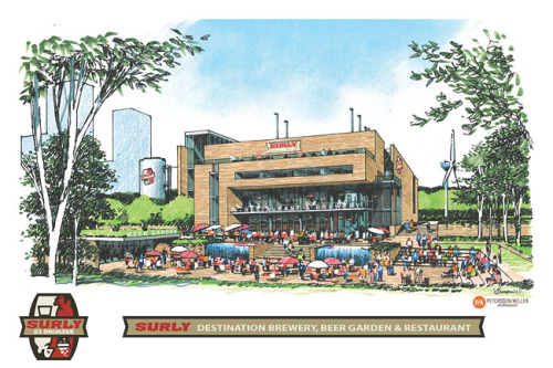mprnews:  This concept drawing of Surly Brewing Company's $20 million brewery and restaurant was released last year. Even though Surly Brewery has yet to pick a location for its expansion, the legacy of the Surly law passed last year has been the proliferation of craft beer-makers that are taking advantage of the change. Veteran craft brewer Summit in St. Paul, which also pushed for the legislation, now has a taproom license, and upstarts Harriet, Fulton and Lift Bridge have also opened taprooms. Read more from reporter Laura Yuen.