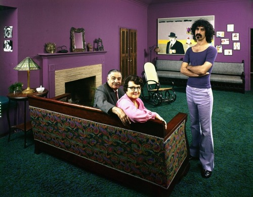 Frank Zappa with parents Francis and Rosemary, 1968