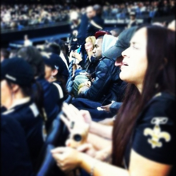 #TBT #Kanye at the #NewOrleans #Saints game #Superdome #Yeezy #KanyeWest (Taken with instagram)