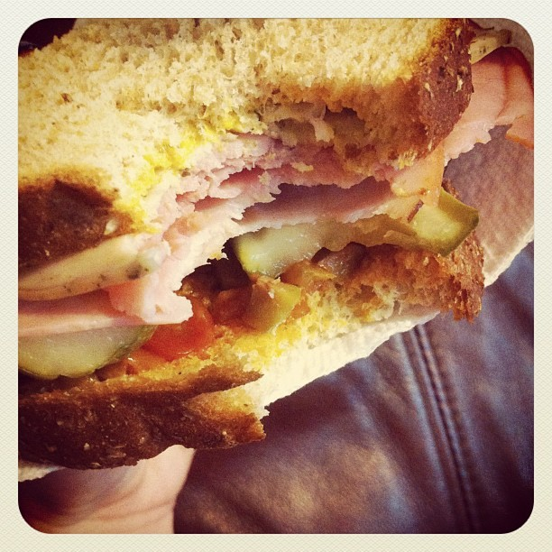 Amazing sandwich. And only 5 weight watchers points! (Taken with instagram)