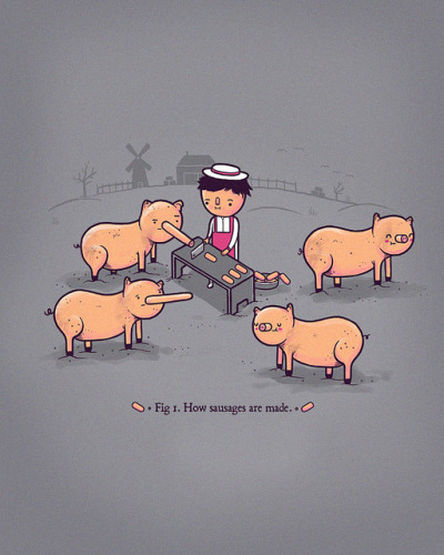 seanblr:  How sausages are made