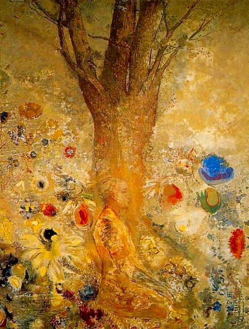made-of-storm:  Buddha In His Youth by Odilon Redon, 1904
