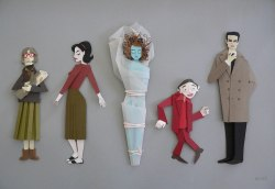 paper sculpture made by Megan Brain (site)