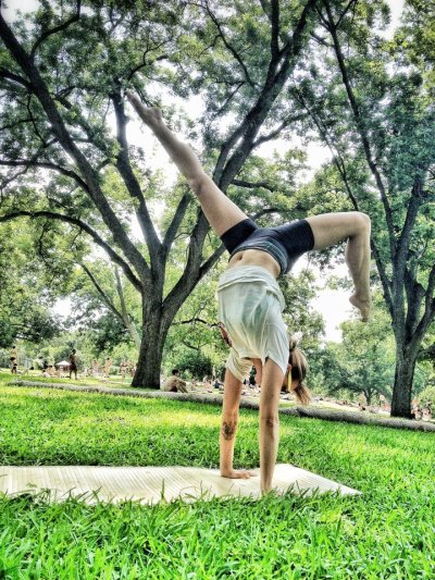 Yoga at Barton Springs.