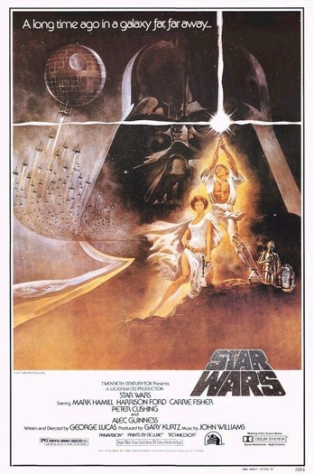 todayinhistory:  May 25th 1977: Star Wars releasedOn this day in 1977, the iconic film 'Star Wars' (later retitled 'Star Wars: Episode IV: A New Hope') was released. It was the first in a six film saga, and was written and directed by George Lucas. It was not expected to be a huge success, but when it was released it earned $460 million in the United States and $337 million overseas, thus defeating 'Jaws' as the highest-grossing film (surpassed by 'E.T. the Extra Terrestrial' in 1983). Star Wars was a groundbreaking piece of cinema and its popularity endures.