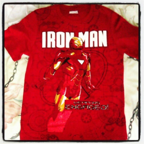 New iron man shirt. Love fitting into kids clothes!  (Taken with Instagram at Clane)