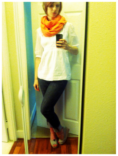 I have kind of a huge crush on neon tangerine right now.