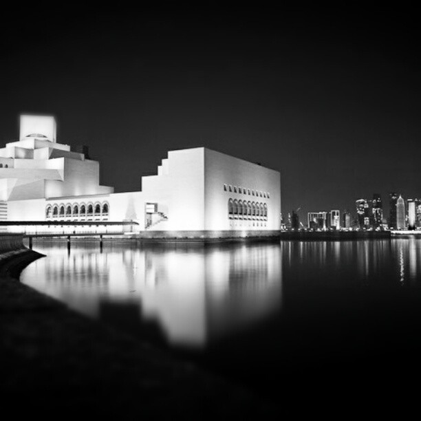 A #night view of the Museum of #Islamic #Art and the #Doha #skyline, #Qatar  (Taken with instagram)