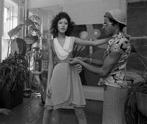 Pat Cleveland and I in 1971.  I absolutely adore this woman. Yes I am going through the archives.  More Vintage Stephen Burrows to come.