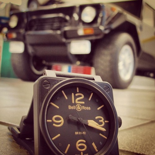 #heritage #bellandross #bellrosswatches #lamborghini #LM #military #jeep …a great pairing.  (Taken with instagram)