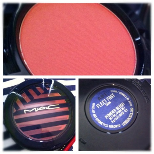 lifeasacake:  Fleet Fast blush from MAC'S Hey, Sailor! summer collection <3333 favorite blush right now!