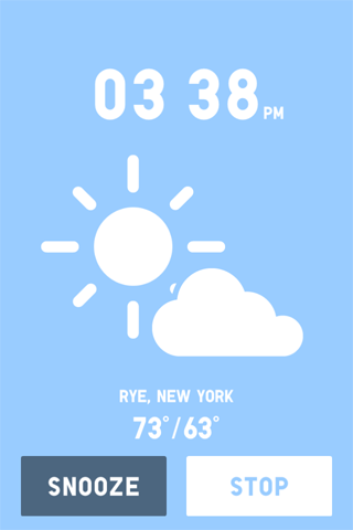 weather-specific wake up screen / audio on UNIQLO's iOS wake up app  /ht carellas