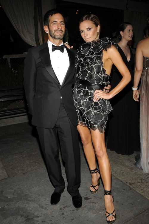The CFDA Fashion Awards are tonight! We love this shot from a few years ago. Can't wait to see all the looks on the red carpet!   cfda:  2008 CFDA Fashion Awards - Marc Jacobs and Victoria Beckham