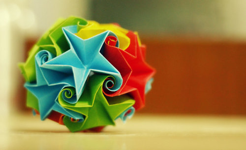 frozencrafts:  star curler ball / kusudama
