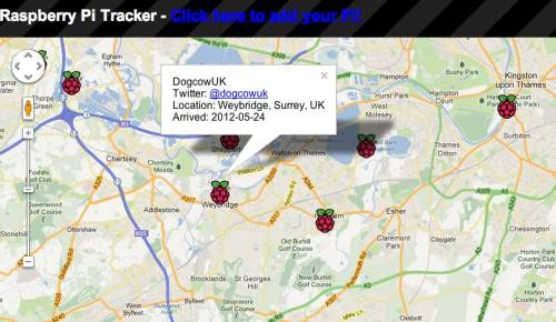 Raspberry Pi Map: Just added myself to the fast growing Raspberry Pi Tracker, you can add yours here: http://rastrack.ryanteck.org.uk/