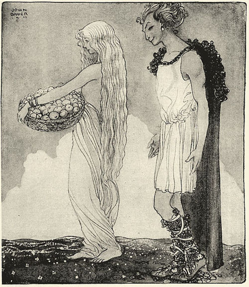 archaeologistforhire:  More awesome Loki art by John Bauer.