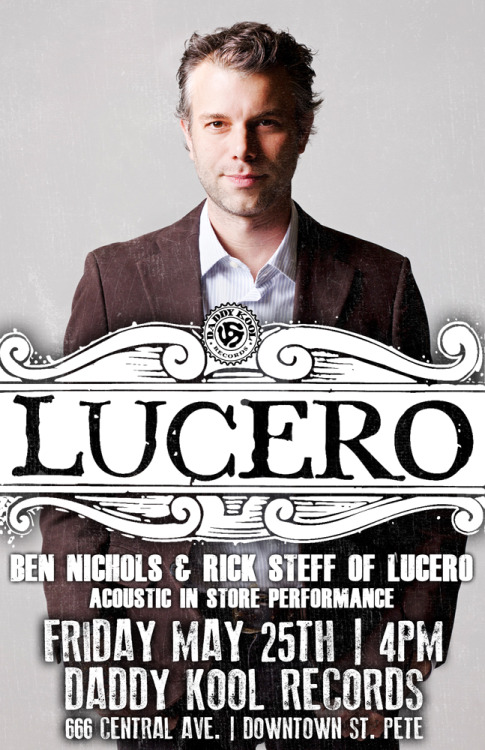 Ben Nichols and Rick Steff from Lucero acoustic in-store will be going on this time tomorrow. Be here.
