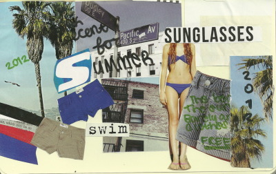 """Summer is coming soon"" by Vanessa Bowden  {I made this out of a Tilly's magazine}"