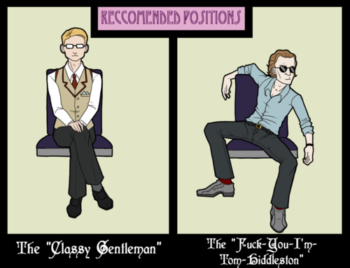my-mewling-quim:  ezliconfuzzed:  Hiddleston you sit like a hoor! …Not that I'm complaining. Comic possibly by ORANGESNAPDRAGON  He doesn't actually sit like tha-      Oh.