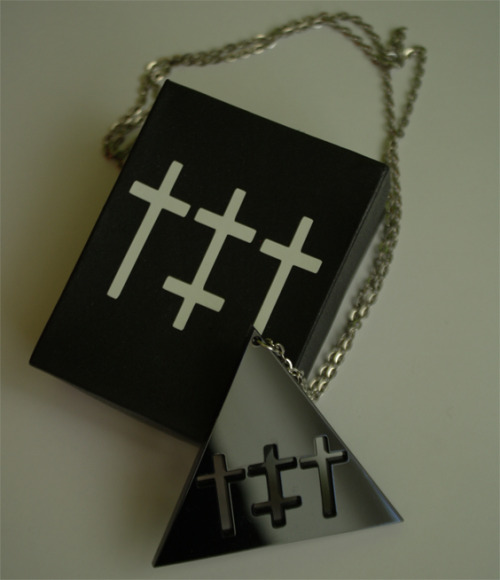 RITUALZ NECKLACES NOW AVAILABLE http://ritualz.bigcartel.com/product/black-triangle-necklace