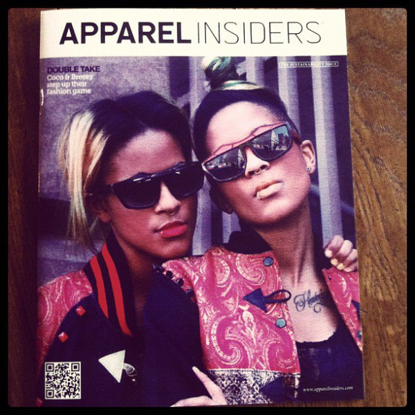 Check out @coco&&breezy on the cover Of APPAREL INSIDERS WITH THE VARSITY APPITIZER JACKETS .. C&PxC&&B LIMITED EDITION