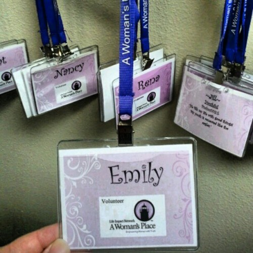 I have a name tag!! (Taken with instagram)