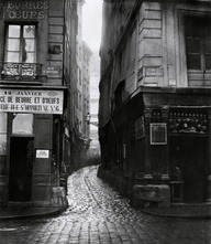 Charles Marville, Rue Tirechappe from Rue Saint-Honoré, Paris, 1858-78 http://bit.ly/KDeIBq